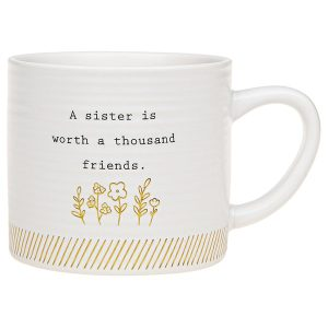 'A Sister Is Worth A Thousand Friends' Ceramic Mug - Thoughtful Words