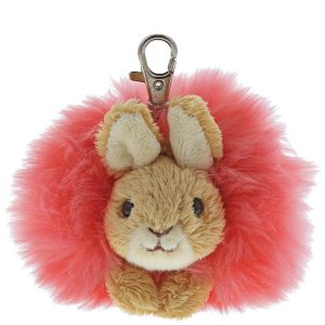 Flopsy Bunny Pink Pom Pom Keyring - Beatrix Potter
