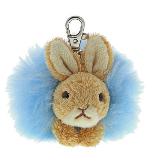 Peter Rabbit Blue Pom Pom Keyring - Beatrix Potter