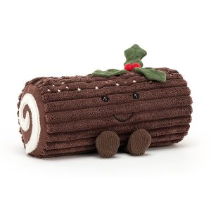Jellycat Amuseable Yule Log, 13 x 21 cm