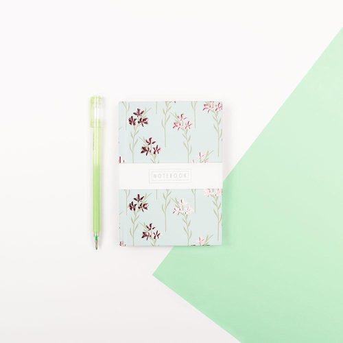 A6 Floral Notebook - Wendy Jones Blackett, WJNBM03