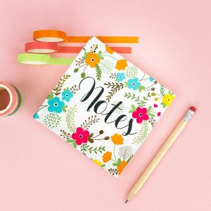 Floral Mini Notes Notebook, IMMB03 - Soul UK