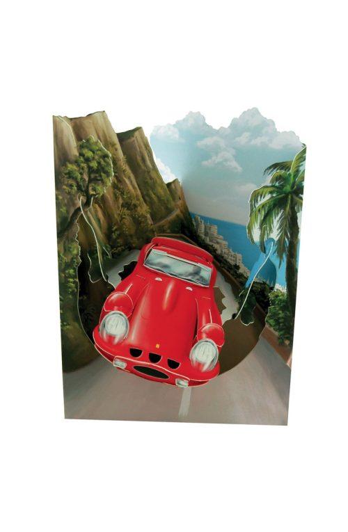 Santoro Sports Car Swing Card - Greetings and Birthday Card