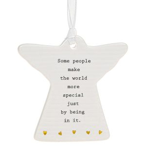 'Some People Make The World More Special Just By Being In It' Ceramic Guardian Angel Hanging Plaque - Thoughtful Words