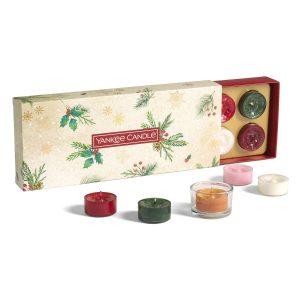 Yankee Candle 10 Tea Light and 1 Holder Gift Set - Magical Christmas Morning