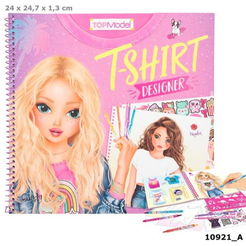 Create Your Top Model T-Shirt Designer Colouring Book - 109121 - Depesche