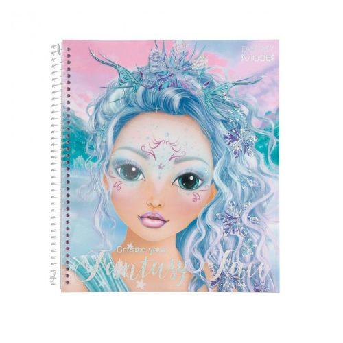 Create Your TOP Model Fantasy Face Colouring Book 11240 - Depesche
