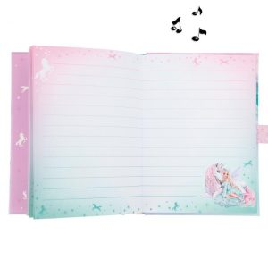 Top Model Fantasy Musical Lockable Secret Diary With Code - Ice Fairy and Unicorn - 11281 - Depesche