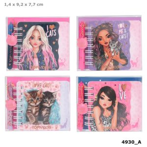 Top Model Mini Notebook and Pen Set - You Me and Cats - 11327 LEO LOVE - Depesche