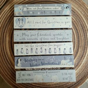 Penguins 'All I Want For Christmas Is You' Winter Glitter Standing Block Plaque - Langs