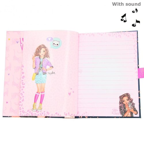 Top Model Musical Lockable Secret Diary With Code - LEO LOVE - 11327 - Depesche