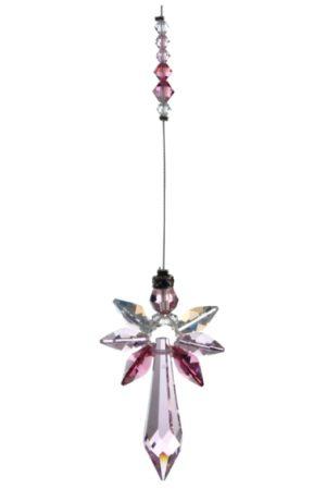Radiant Guardian Angel - Rose - Swarovski Crystal Rainbow Maker Hanging Suncatcher