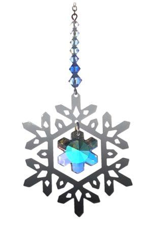 Crystal Radiance - Pure Radiance Small Snowflake - Royal Blue - Swarovski Crystal Rainbow Maker Sun Catcher