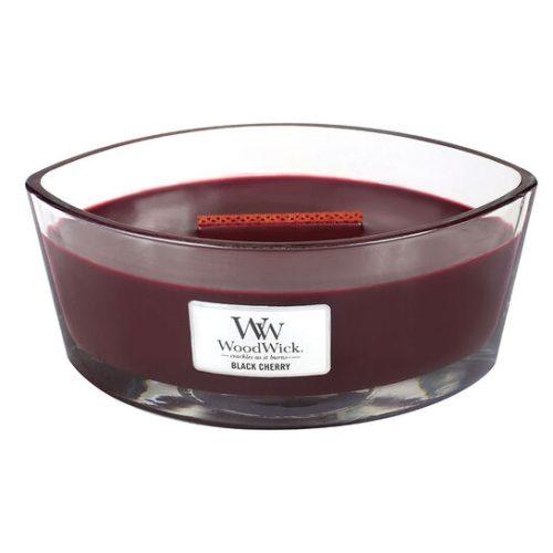 WoodWick HearthWick Black Cherry Ellipse Candle, 453g