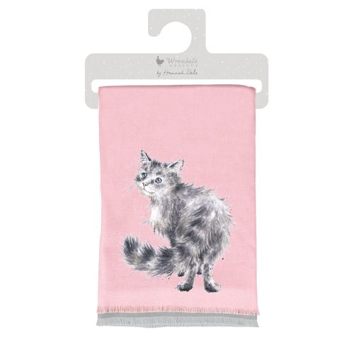 Glamour Puss Cat Winter Scarf WSCF005 - Wrendale Designs