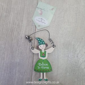 'Believe In Fairies' Small Woodland Fairy Hanging Plaque - Langs