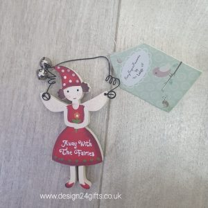 'Away With The Fairies' Small Woodland Fairy Hanging Plaque - Langs