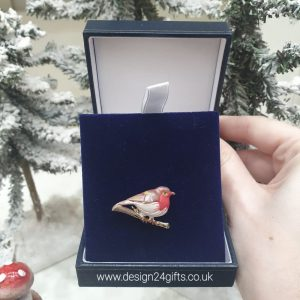 Rodney Holman Robin Brooch in Gift Box