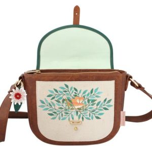 Secret Garden Fox Saddle Bag with Floral Design - Disaster Designs
