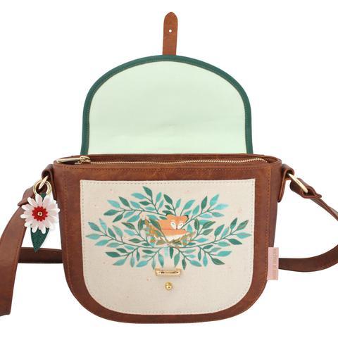 Secret Garden Fox Saddle Bag with Floral Design - Disaster Designs