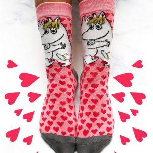 The Moomins Heart Print Socks - Moomin and Snorkmaiden - Disaster Designs