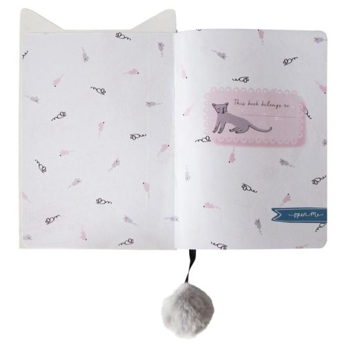 Over The Moon Cat Notebook - Disaster Designs