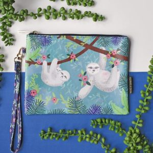 Over The Moon Sloth Pouch Bag with Strap - Disaster Designs