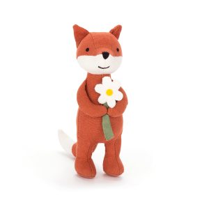 Jellycat Mini Messenger Fox with Daisy - 16 cm