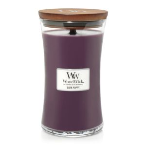 WoodWick Dark Poppy Large Hourglass Candle, 604g