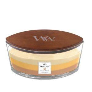 WoodWick HearthWick Trilogy Golden Treats Ellipse Candle, 453g