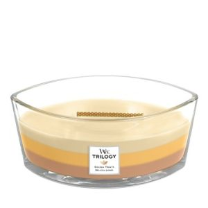 WoodWick HearthWick Trilogy Golden Treats Ellipse Candle, 453g