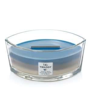 WoodWick HearthWick Trilogy Nautical Escape Ellipse Candle, 453g