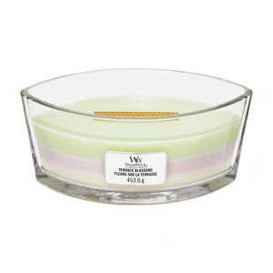 WoodWick HearthWick Trilogy Terrace Blossoms Ellipse Candle, 453g