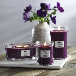 WoodWick HearthWick Dark Poppy Ellipse Candle, 453g
