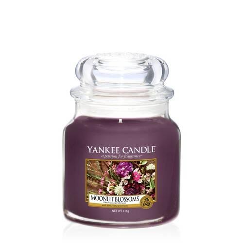 Yankee Candle Moonlit Blossoms Medium Jar Candle, 411g