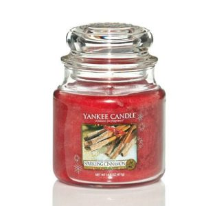 Yankee Candle Sparkling Cinnamon Medium Jar Candle, 411g