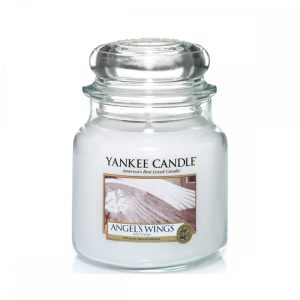 Yankee Candle Angel's Wings Medium Jar Candle, 411g