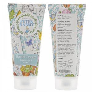 Peter Rabbit Clean Linen Hand Cream 100ml - Beatrix Potter