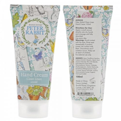 Peter Rabbit Clean Linen Hand Cream 100ml - Beatrix Potter