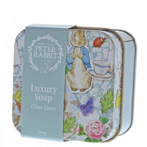 Peter Rabbit Clean Linen Soap in Tin - Beatrix Potter