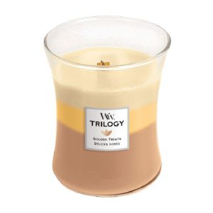 WoodWick Golden Treats Trilogy Medium Hourglass Candle, 275g