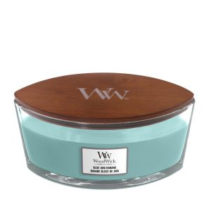 WoodWick HearthWick Blue Java Banana Ellipse Candle, 453g