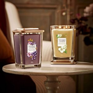 Yankee Candle Elevation Collection - Jasmine and Sweet Hay - Large 2-Wick Square Candle