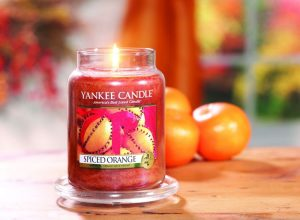 Yankee Candle Spiced Orange Large Jar Candle, 623g
