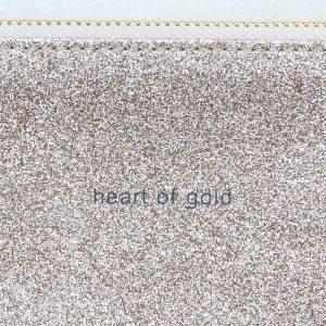 Caroline Gardner 'Heart of Gold' Glitter Pouch Bag