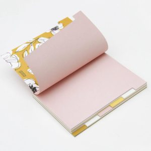 'Pretty In Pink' Pale Pink Multi Tab Notebook - Caroline Gardner