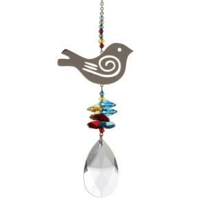 Crystal Fantasy Large Tropical Songbird Hanging Swarovski Suncatcher