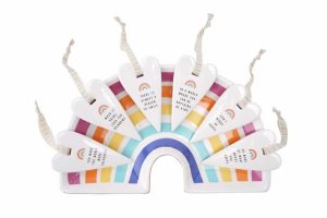 'You Make The World More Colourful' Chasing Rainbows Ceramic Heart Hanger