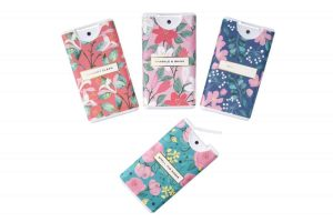 Willow and Rose Floral Hand Sanitiser Set of 4