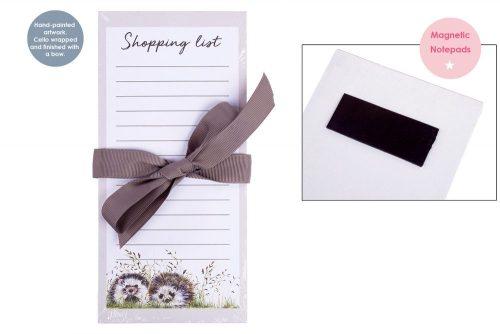 Woodland Hedgehog Magnetic Shopping List Pad - Langs